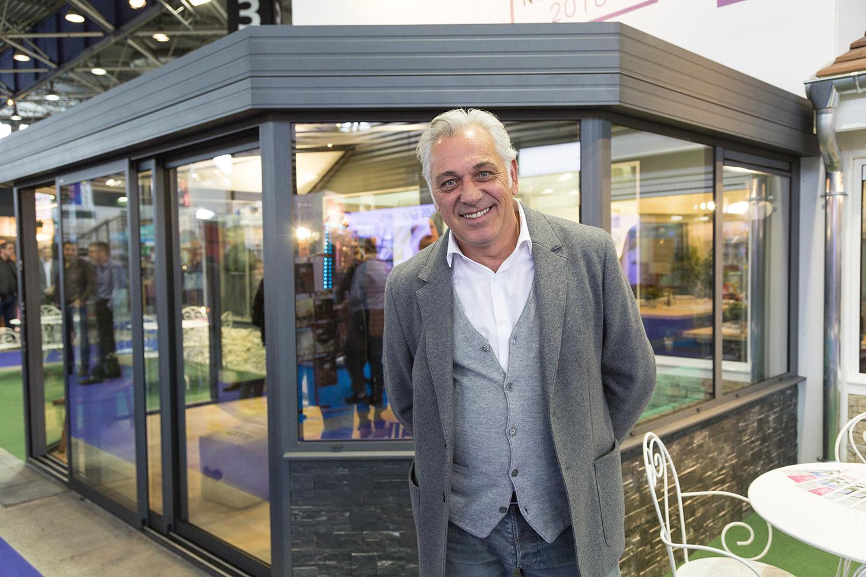 Stéphane Thébaut au stand Vie & Véranda