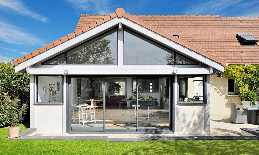 une veranda extension en bois